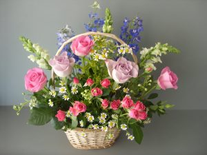 Fresh Rose Basket - £40.00