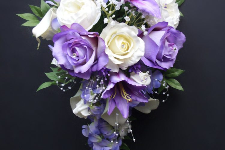 Lilac & Cream Bridal Bouquet - £170.00