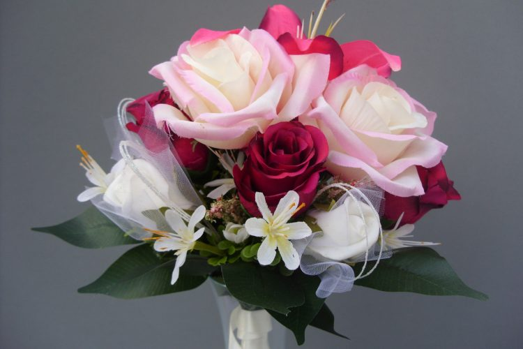Red, Pink & White Rose Bouquet - £37.00