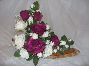 Burgundy & Cream Rose Arrangement - £90.00