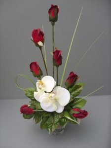 Rose & Orchid Valentine Arrangement - £22.00