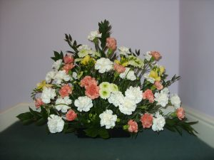 Carnation, Crysanth & Freesia Arrangement - £86.00
