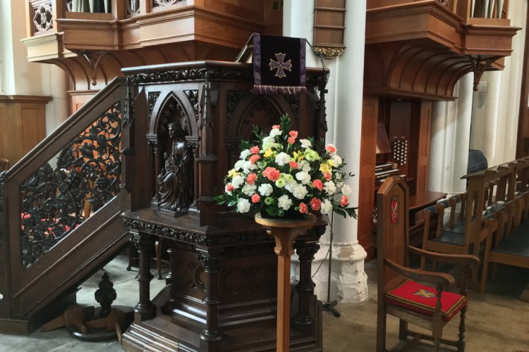 Church Pedestal Arrangement - £86.00