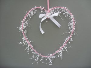 Heart Garland - Pink & White - £10.00