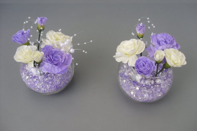 Lilac & Cream Table Decorations - £8.00 each