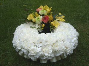 Carnation & Freesia Wreath - £68.50