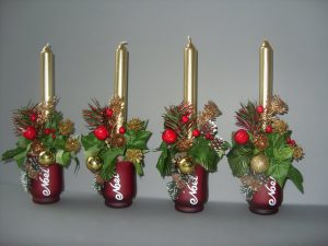 Cones & Berries Christmas Candles - £10.00 each