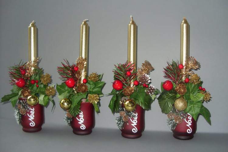 Cones & Berries Christmas Candles - £12.00 each