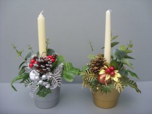 Silver & Gold Christmas Planters - £11.50 each