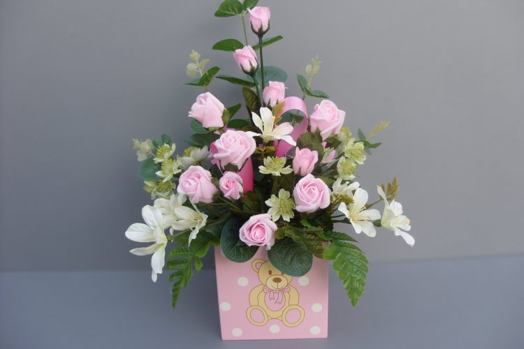 Baby Girl - Pink Roses - £22.50