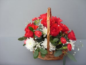Mother's Day Fresh Rose Basket - £42.50