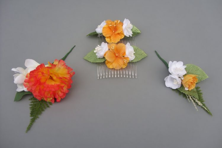 Hair Combs - £4.50 each, Boutonniere - £5.00 & Corsage - £4.50
