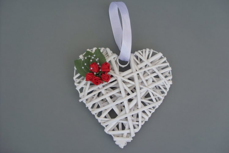 Decorated Wicker Heart - £10.00