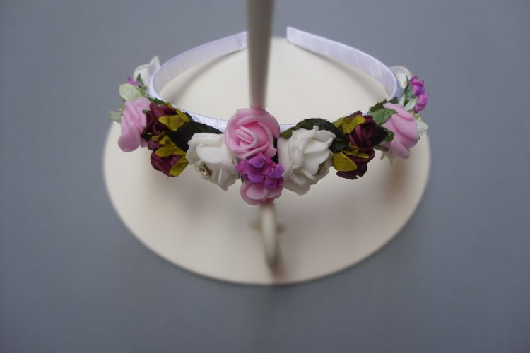 Pink & White Rose Bridesmaid Headband - £8.00