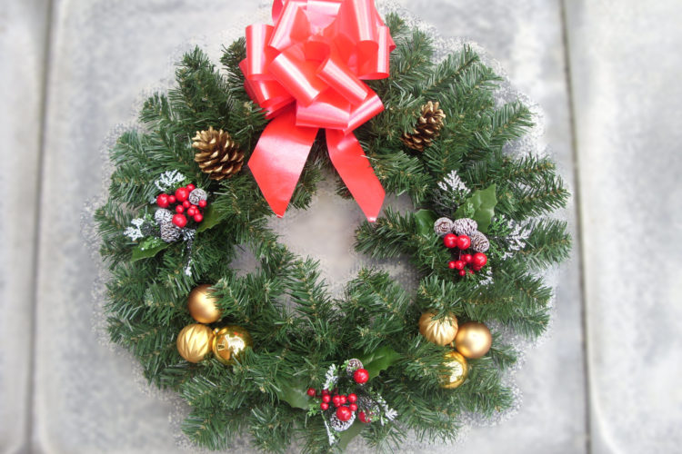 """18"""" Wreath - Small Cone and Berry Picks, Baubles, Cones & Red Bow - from £17.00"""