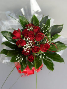 Valentine Rose Aqua Bouquet